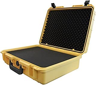 IBEX Cases - Yellow Watertight Hard Rugged Protective Case for Electronics, Equipment, Cameras, Tools, Drones, and More (IC-2100YL)
