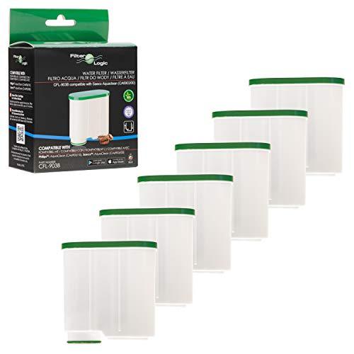 FilterLogic CFL-903B | 6er Pack Wasserfilter kompatibel mit Saeco AquaClean CA6903/00 CA6903/01 CA6903/99 CA6903 Kalkfilter, Aqua Clean Filterpatrone für Kaffeevollautomat