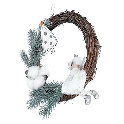 VALICLUD di Natale del Cotone del Fiore Aghi di Pino di Natale con Le Pecore Artificiale di Natale su Un Ramoscello Naturale di Base per Agriturismo Giardino
