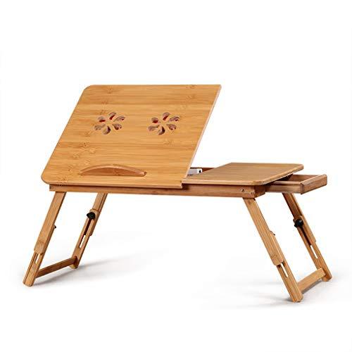 PPOSH Laptop-Tisch Faltbarer Bettcomputerständerleserahmen, einfacher fauler Bambustisch Laptop-Ständer (Size : S)