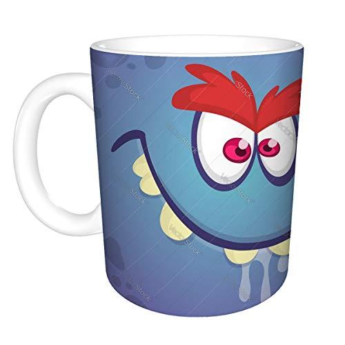 Coffee Mug Ceramic Cup 11 Ounces cool cartoon angry troll monster face