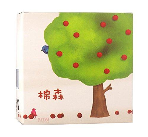 204pcs de maquillage cosmétiques en coton en carré Tree Pattern