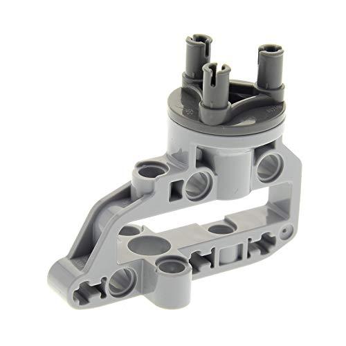 Preisvergleich Produktbild Bausteine gebraucht 1 x Lego Technic Rad Lenk Achs Rahmen Aufhängung hell grau Technik dunkel grau Radnabe 9398 76023 42030 92909 92908c01