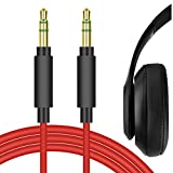 Geekria QuickFit Plus Cable Replacement for Beats Studio, Solo3, Solo2, Solo, Solo HD, Wireless, Mixr, Executive and More/Tangle-Free Premium Headphone Audio Cord (3.5mm,Red 5.6ft)