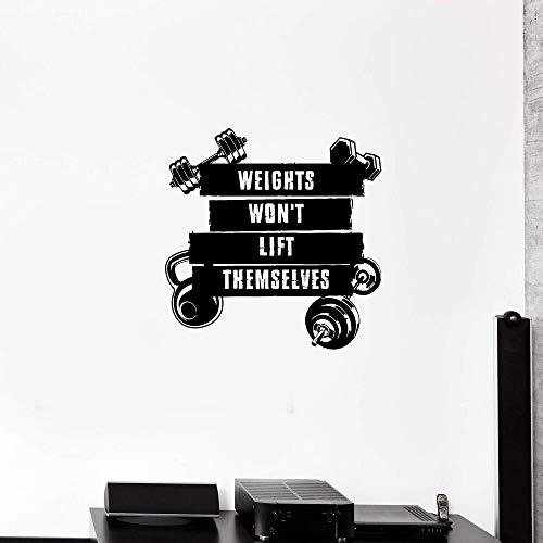 Adhesivos Pared Pegatinas de pared Etiqueta engomada del arte de los pesos lindos a prueba de agua para la decoración del hogar Sala de estar Dormitorio Fondo Arte de la pared Etiqueta 57x58cm