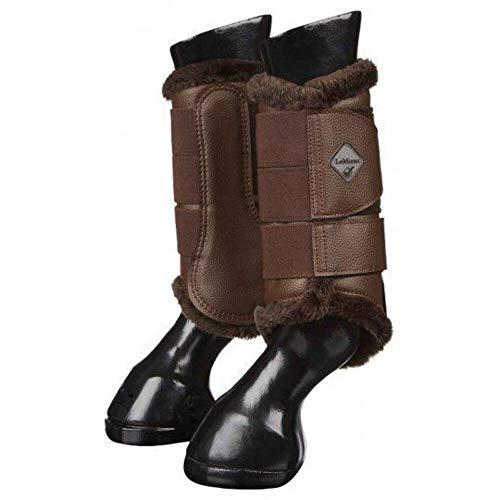 LeMieux Pro Sport Fleece Lined Brushing Boots Medium Brown