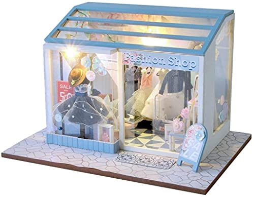 Lujoso Kit de casa de muñecas DIY Mini Doll House Street Shop...