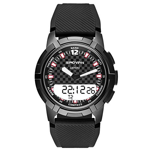 N\C Outdoor Smart Asynchronous Dual Display Watch Compass Mechanical Pointer Multi-Function Sports Watch