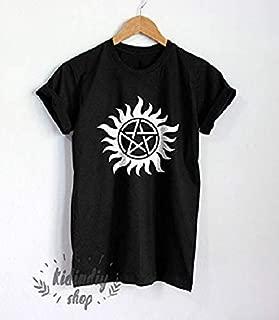Anti Possession Tattoo Shirt Supernatural T-Shirt Winchester Tshirt Unisex Clothing Top Tee