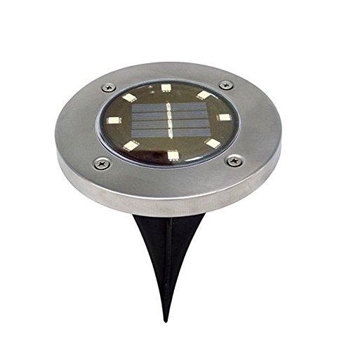 Solar Fastar Erdspieß Lichter, wasserdicht Outdoor Path Light 8LED 50Lumen für Yard Garten Rasen Landschaft Sonnendeck, weißes Licht