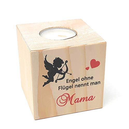 KATINGA Teelichthalter Engel - toller Kerzenständer für Mama (Engel Mama)