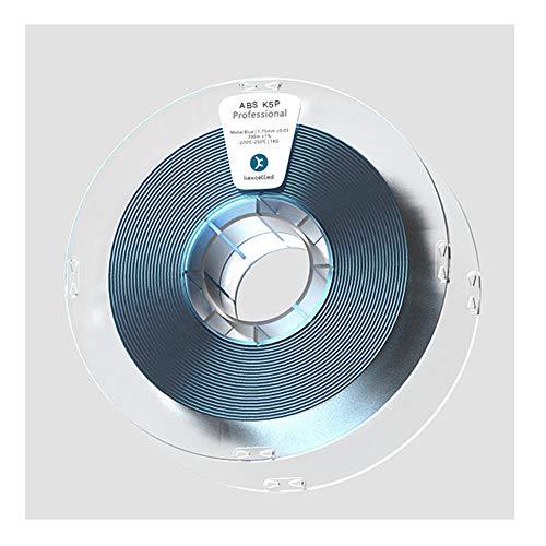 ABS K5P-Filament 1,75 mm, 3D-Druckerfilament, glatte Metallbeschaffenheit, 1kg Spule-Blau