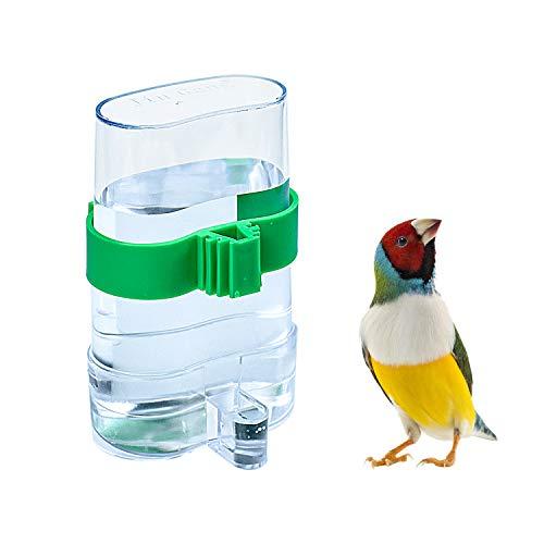 COCOCITY Futterspender Vögel Automatischer Wasserspender Clip Futternapf Trinkflaschen für Vögel Wellensittiche, Nymphensittiche, Papageien (7,5 x 3,2 x 13,4cm)