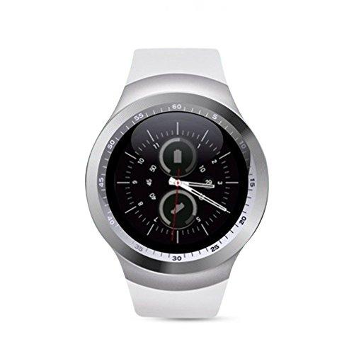 TKSTAR Y1 Smartwatch, 3,1 cm (1,22 Zoll), Touchscreen, Fitness-Tracker, Schlafmonitor, Schrittzähler, Kalorienzähler, unterstützt GSM-SIM-Karte (weiß)