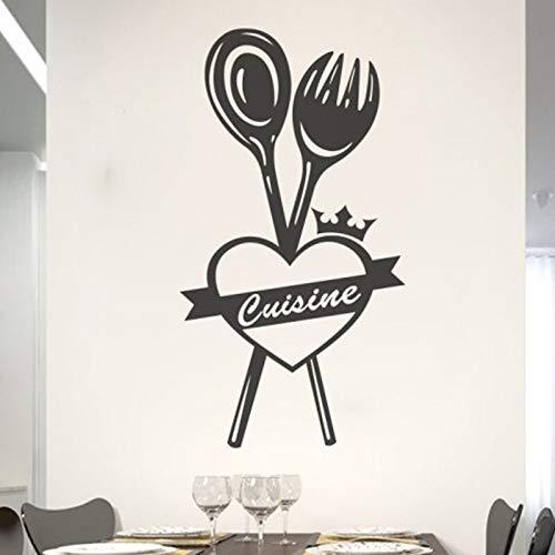 Alto mi cocina pegatinas de pared decoración del hogar PVC impermeable arte papel tapiz 30 * 55cm