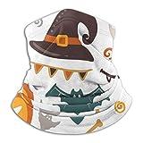 Pillow Socks Halloween Elements Magic Ball Witch mit Buch Multifunktionale Halsmanschette Bandana, Gesichtsschal Sun Dust Wind Proof Stirnbänder
