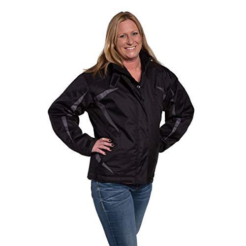 Mossi, 990-309B-13, Women's F1 Snowmobile Jacket - Black/Grey, Small