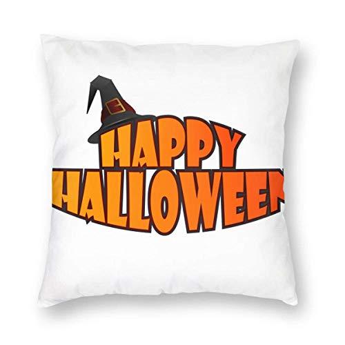 NotApplicable Couch Cushions Feliz-Halloween- Funda De Almohada para El Hogar Funda De Almohada Funda De Cojín De Navidad Anime Decoración De Interiores 45Cmx45Cm Sofá Habitación De Cama Cuadra