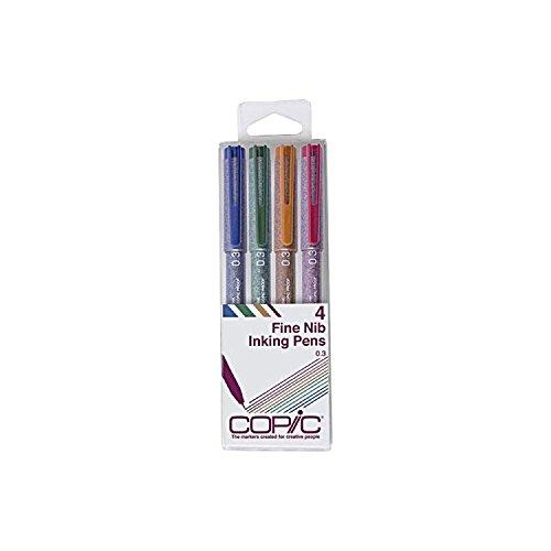 Copic Marker Multiliner MLCLR03 Tinte auf Pigmentbasis, 4-teiliges Set