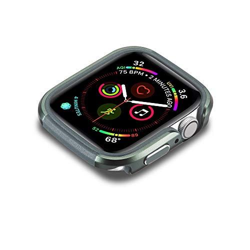 Flyuzi Nueva Caja de Aluminio TPU + para la Serie de Relojes de Apple SE 6 5 4 Cubierta DE Marco DE Marco PROTECTIVO DE Metal Fuerte Chare DE PARPERA para IWATT 40mm 44mm