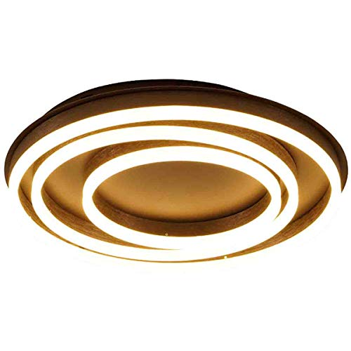 JIAWEI Deckenleuchte Mit Fernbedienung, Dimmbare Gang-Wohnzimmerbeleuchtung - Creative Annual Ring 3 Ring Acryl-Kinderdeckenleuchte,D52X8CM