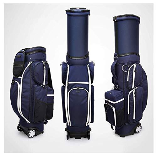 YUHT Premium Golf Trolley Bag, Golftasche mit 5-Fach geformtem Organizer Divider Top mit Doppelriemenwagen Trolly Golf Trolley