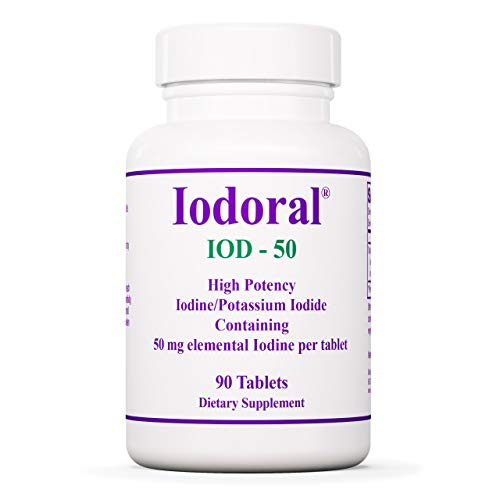 Optimox Iodoral 50 mg - Original High Potency Iodine Supplement - Energy...