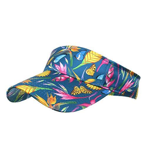 Xiangdanful Visor Cap Damen – Sport Sonnenschutz Kappe Atmungsaktiv Golf Sonnenhut Verstellbar Visor Kappe Mehrere Farben Sonnenblende Outdoor Freizeit Visoren