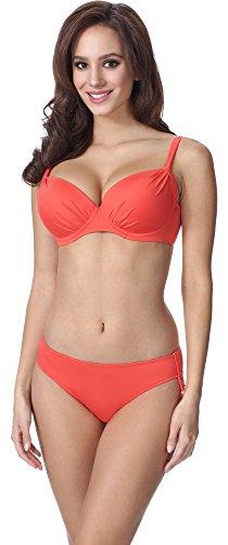 Feba Figurformender Damen Push Up Bikini F03 (Muster-214, Cup 75E / Unterteil 38)