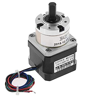 Dasing 5:1 Planetary Gearbox Stepper Motor Nema 17 Gear Stepper Motor 0.4A for DIY CNC Robot 3D Printer 17HS13-0404S-PG5