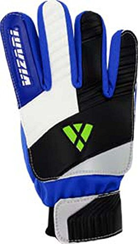 Vizari Junior Keeper Glove, Blue/White/Black, Size 5