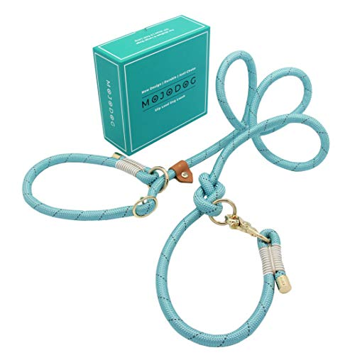 Treewix MOJODOG Anti-Choke Slip Lead Dog Leash - for Medium and Large Breeds - for Walking, Training and Heavy Pullers - Great Gift for Dog Lovers - Reflective Durable 1/2' Climbing Rope 6 ft Long