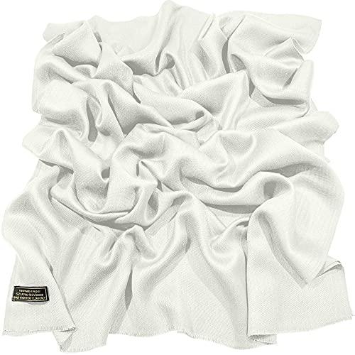 CJ Apparel CJ Apparel Weiß Normallack Design Nepalesischer Fransenschal Schal Stola Wrap Pashmina NEU