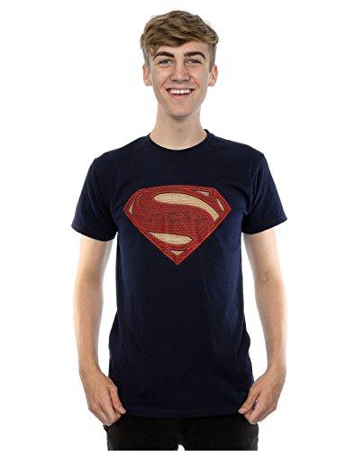 DC Comics Men's Superman Man Of Steel Logo T-Shirt XX-Large Deep Navy