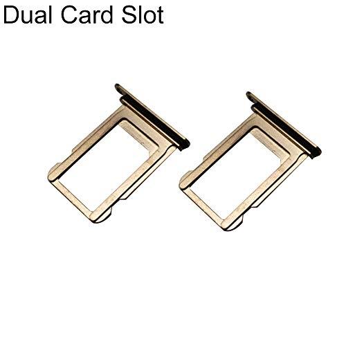 zNLIgHT Interne Telefoononderdelen | Vervangende Metalen Telefoon Enkel/Dubbele sleuf SIM-kaarthouder Lade voor iPhone Xs Max, 2pcs, goud