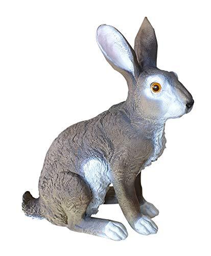 Dekofigur Horst Hase sitzend Feldhase Rammler Kaninchen Gartendeko 40 cm