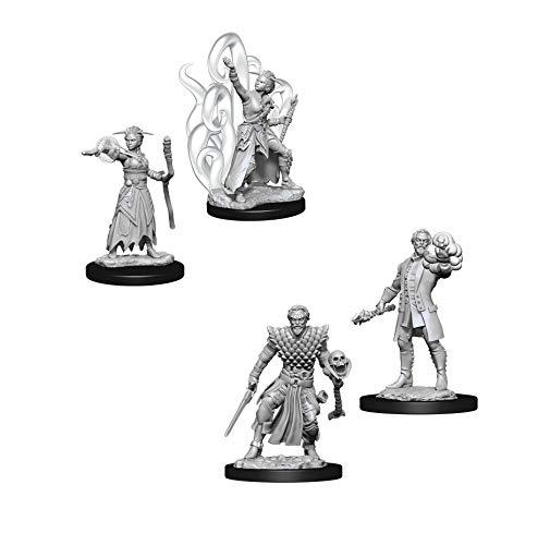 Dungeons & Dragons Nolzur's Marvelous Unpainted Miniatures Bundle: Male Human Warlock W10 + Female Human Warlock W10