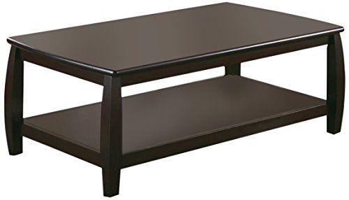 Coaster Home Furnishings Marina Coffee Table with Shelf Cappuccino - Set includes: One (1) coffee table Materials: MDF Finish Color: Cappuccino - living-room-furniture, living-room, coffee-tables - 41vYsGs5VAL -