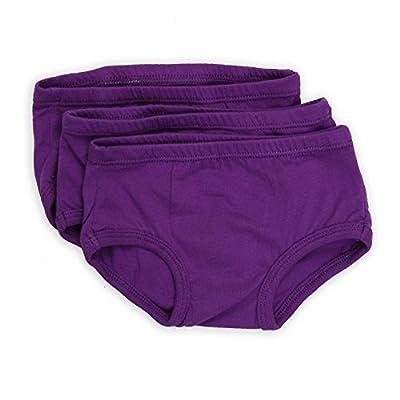 Tiny Undies Unisex Baby Underwear 3 Pack (2T, BlackBerry Purple)