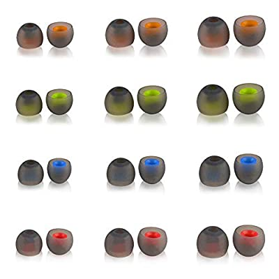 Silicone Eartips Eargels Earpads Ear Tips Gels Bud Cap Replacement Compatible for Sport Bluetooth Headphones (24pcs for 3.8-4.4mm Hole) from Stillbetter