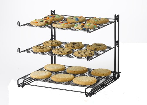 Nifty Solutions BC4422 Nifty 3-Tier Cooling Rack, Black