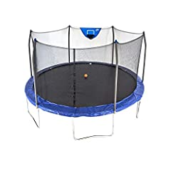 Assembled dimensions: 15' x 15' x 9'; Product weight: 186.1 pounds Safety is our #1 priority: Patented enclosure eliminates gaps between the enclosure net and the jumping surface protecting children from pinch points and openings. Slam dunk basketbal...