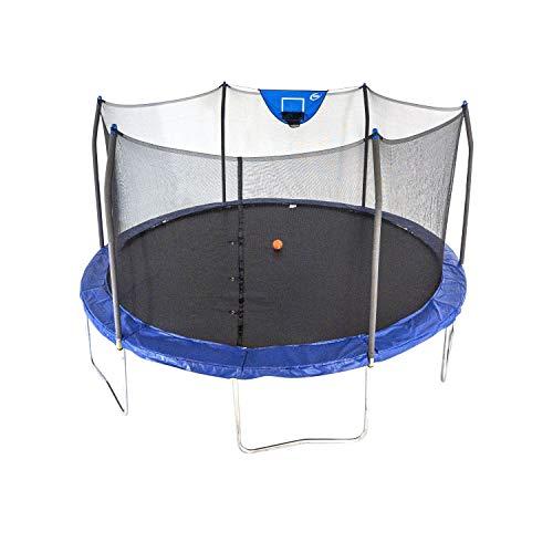 Skywalker Trampolines 15-Feet Jump N' Dunk Trampoline with Safety Enclosure and Basketball Hoop