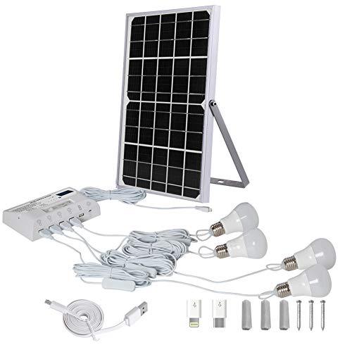 Solar-Beleuchtungssystem Portable Solar-Home-System USB-Aufladung Mit 4 LED-Lampen Für Camping Wandern Angeln Gartenhaus mit Schuppen