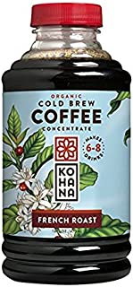 Kohana Organic French Roast Cold Brew Coffee Concentrate 32 oz (Pack of 2)
