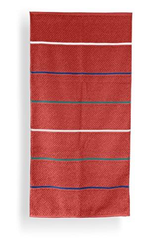 Santens SC00243700 Grana Serviette de Bain Coton Paprika 68 x 140 cm