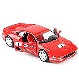 hclshops Coche Modelo de Coche 1:24 Ferrari F355 Challenge Simulación de aleación de fundición de joyería joyería Juguete Sports Car Collection 17.5x8x4.5CM