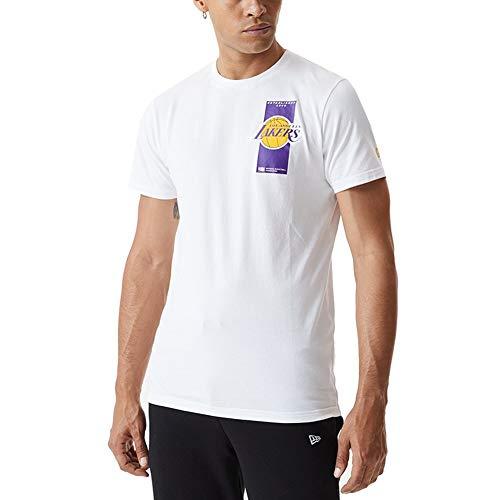 New Era NBA Repeat Back Logo Tee Loslak Maglietta a Maniche Corte Uomo, Uomo, Maglietta a Maniche Corte, 12590891, Bianco, S