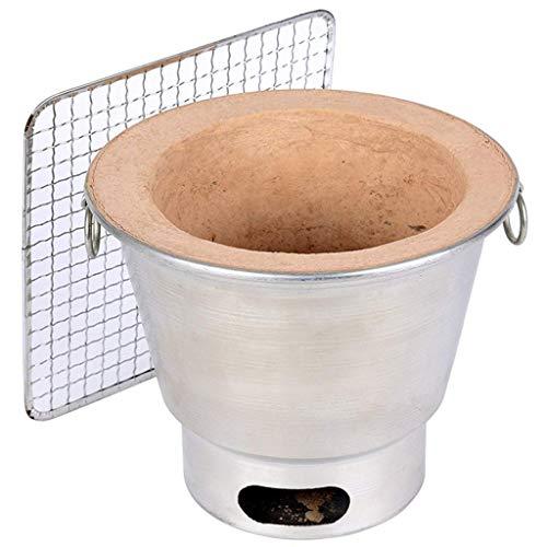 WMY Estufa de Barbacoa, Cocina portátil, Horno de carbón para el hogar con tandoor de Barbacoa Antiguo, tandoor Blanco Plateado y tandoor Colorido Dos Estilos