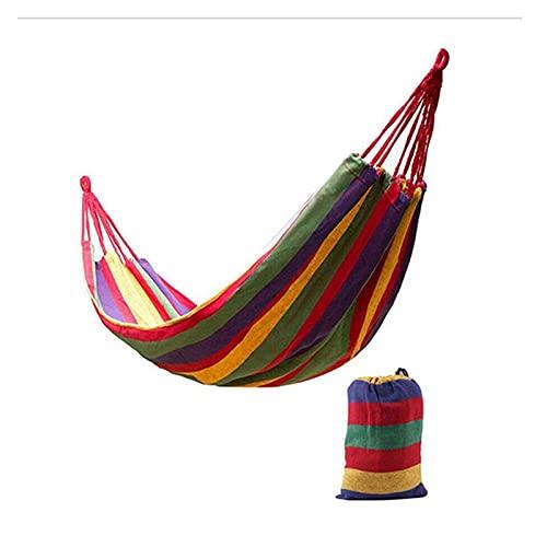 WJCRYPD Camping Hammock Canvas Bed Swing Bed Backpacking da Viaggio Survival da Viaggio Survival Caccia Letto ā Base Letto Terrazza Portico Portico Sedia Appeso 260 * 150 cm Portatile Hammock Qf Shop
